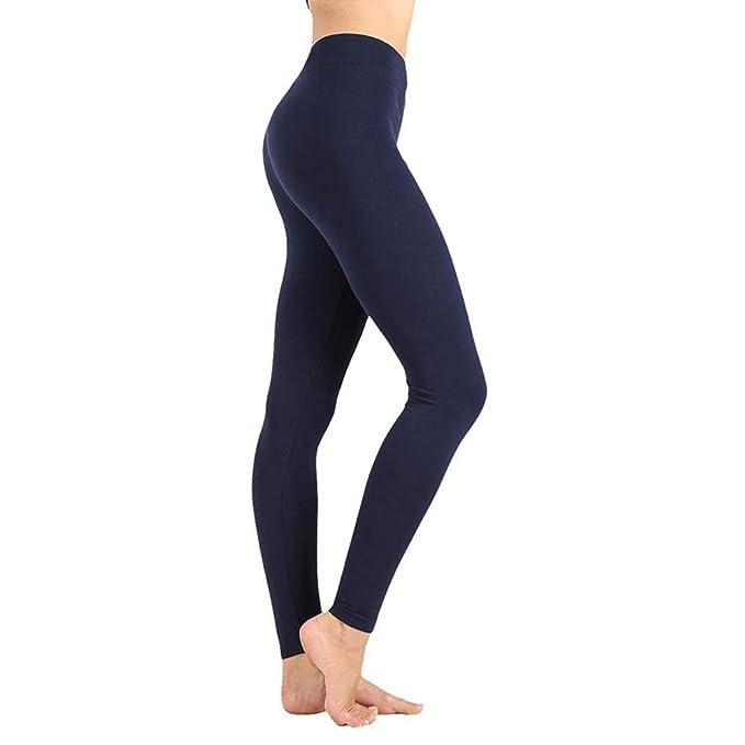 Womens High Waisted Yoga Leggings -One/Plus Size -Super Soft Full Length Opaque Slim