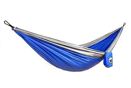 Double Parachute Portable Hammock The Ultimate Backpacking Camping Accessory Made with Parachute Nylon Steel Carabiners Compact Lightweight Easy to Pack – Original Camping Company
