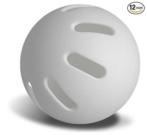 Sky Bounce¨ Plastic Curve Baseball Lightweight Similar to Wiffle Ball -White Color- Fun for All Ages Tee-Ball