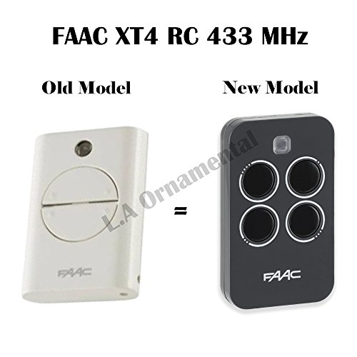 3 X FAAC XT4 433 RC white remote control transmitters, Model: 787452 . LONG range 433.92Mhz rolling code keyfob!!! 3 remotes for a bargain price!!!
