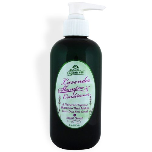 Nature's Organic Pet Lavender Shampoo and Conditioner for Dogs, 8 Ounces, My Pet Supplies
