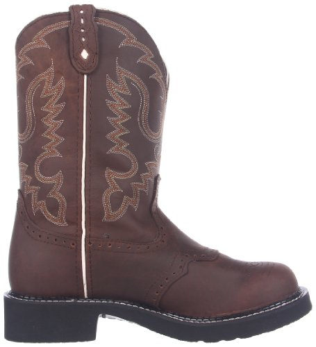 Bootsl9909 Western Justin Stivali Marrone Donna bark paFzFx