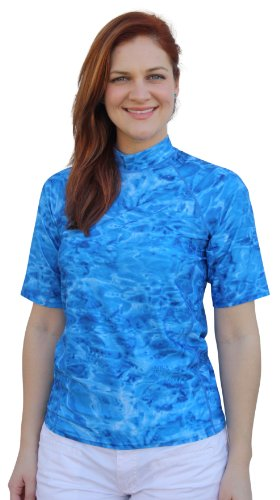 Aqua Design Womens Relaxed Fit Rash Guard UPF 50+ Surf Swim Rashie Shirt