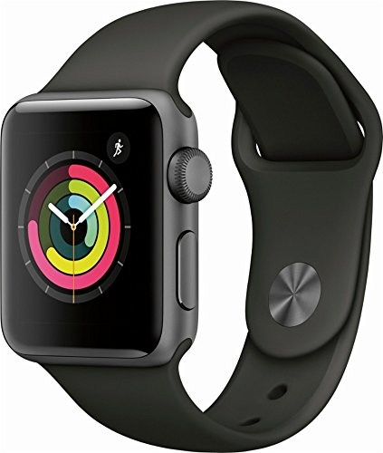 Apple Watch Series 3 (GPS) 38mm Smartwatch (Space Gray Aluminum Case, Gray Sport Band) Photo #2