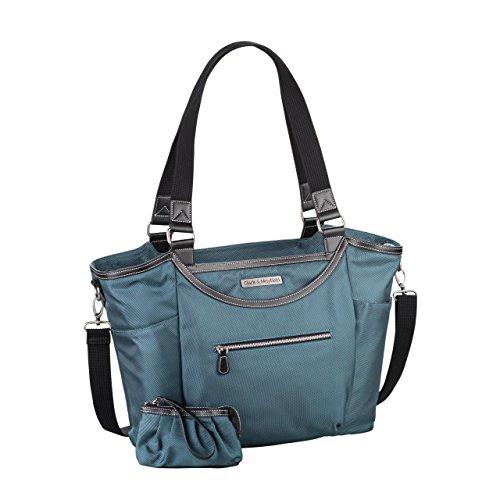 Clark & Mayfield Women's Bellevue Laptop Handbag (Fits laptops up to 18.4'', Deep Teal) by Clark & Mayfield