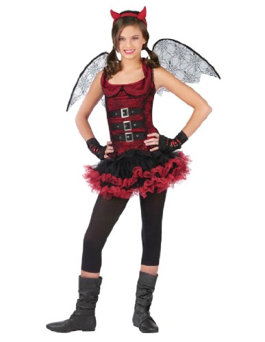 [Night Wing Devil Red Costume Child Medium 8-10] (Devil Costume For Girls)