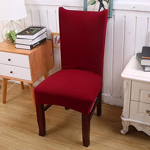 Argstar 2 Pack Dining Chair Covers Party Red Removable Protector