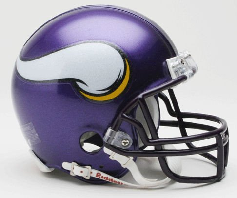 Riddell NFL Minnesota Vikings 2006-2012 Throwback Replica Vsr4 Mini Football Helmet