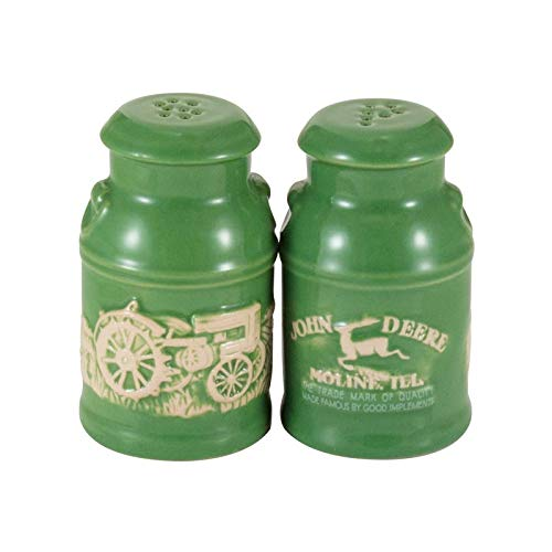 John Deere Kitchen Accessories - John Deere Raised-Relief Milk Can Salt & Pepper Set