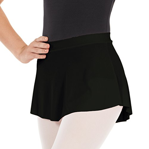 - Eurotard Girls Pull-On Mini Ballet Skirt (BLACK, MEDIUM)- 06121c
