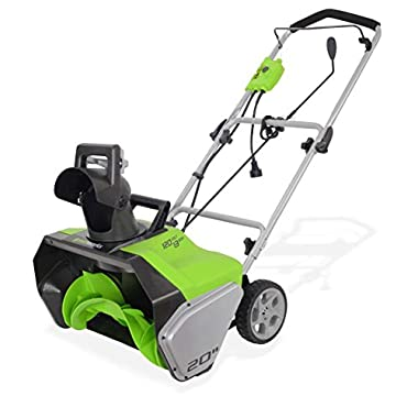 GreenWorks 2600502 13 Amp 20  Corded Snow Thrower