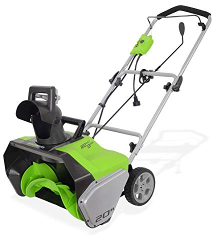 GreenWorks 2600502 13 Amp 20-Inch Corded Snow Thrower