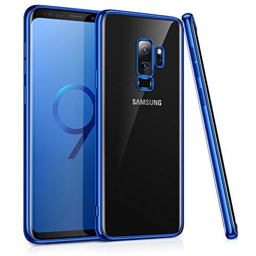 TORRAS Clear Transparent Galaxy S9+ Plus Case,Slim Fit Ultra Thin Soft TPU Case Gel Cover Compatible Samsung Galaxy S9 Plus (6.2) - Blue