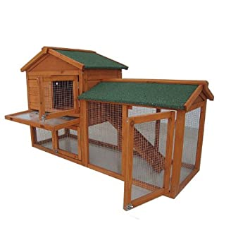BUNNY BUSINESS - Caseta de dos pisos con rampa The Grove para conejos y cobayas, color hierbabuena: Amazon.es: Productos para mascotas