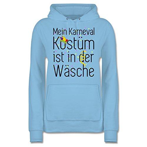 Shirtracer Karneval & Fasching - Mein Karneval Kostüm ist in der Wäsche - Damen Hoodie Hellblau 2Mx759gv