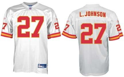 b0d115a998c Larry Johnson Kansas City Chiefs  27 Authentic Reebok NFL Football Jersey ( White)