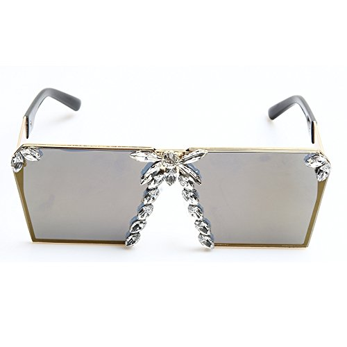 Espejo De Mujeres Cristal Gafas gold Uv400 Unas De De Rosados Para De TIANLIANG04 Sol Colorido Tonos Gafas Lujo Rosa Mujer De Sol Enormes Las x8RqSR6