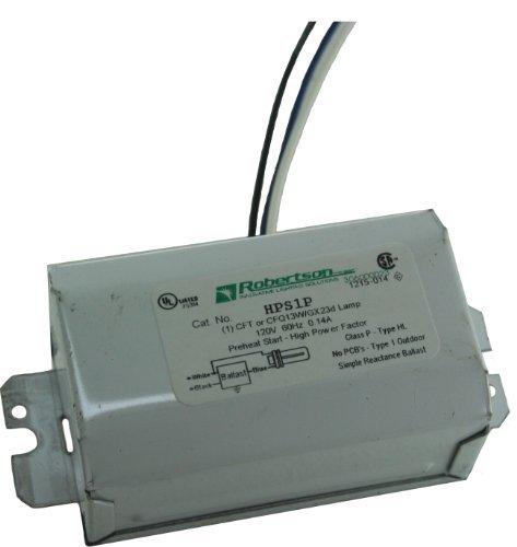 ROBERTSON 3M10064 HPS1P /A 120Vac. 60Hz Magnetic Preheat Start High Power Factor Fluorescent Ballast for 1 CFQ13W/GX23 by Robertson - Stores Robertson