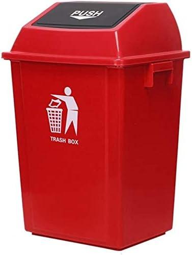 POIUY プラスチック廃棄物のビンハイ酷いビンビンで開くビン大型ゴミ箱、屋外モールレストランホームフリップごみビン(サイズ:41.5 * 41 * 57.9CM、49.5 * 4.5 * 86.5CM (Color : C, Size : 100L)