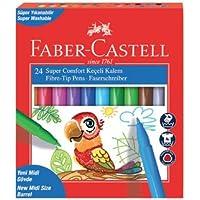 Faber-Castell 5068155240 Faber-Castell Super Comfort Keçeli Kalem, 24'lü