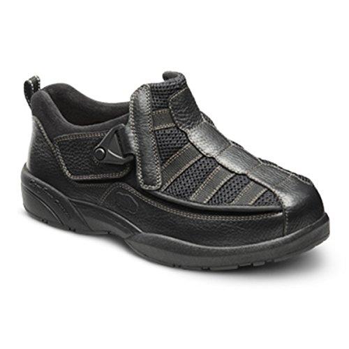 Dr. Comfort Men's Edward X Double Depth Stretchable Diabetic Casual Shoes: Black 9 Medium (E/2E)