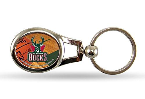 Rico NBA Milwaukee Bucks Oval (Buck Keychain)