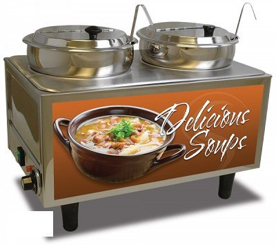 Benchmark USA 51072S Soup Station Warmer twin 7 quart well capacity