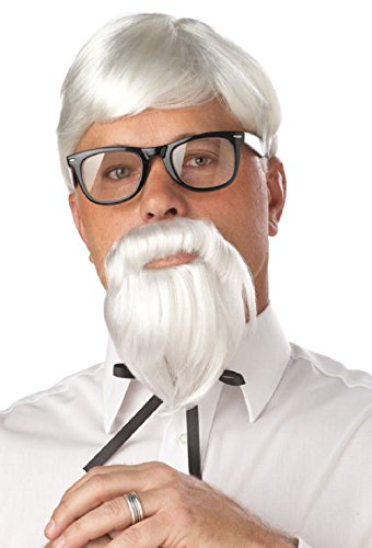 Colonel Sanders Costumes Kids (The Colonel Sander Halloween Costume Wig and Moustache)