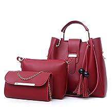 Top Shop Womens Alligator Candy Shoulder Handbag Tote Bags Hobo Clutch Three-pieces set