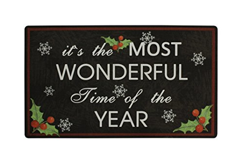 The Most Wonderful Time Christmas Printing Door Mat, Ship from US