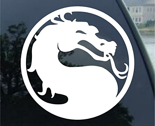 "Crawford Graphix Mortal Kombat Dragon Combat Video Game Decal Sticker (5.5"" White)"