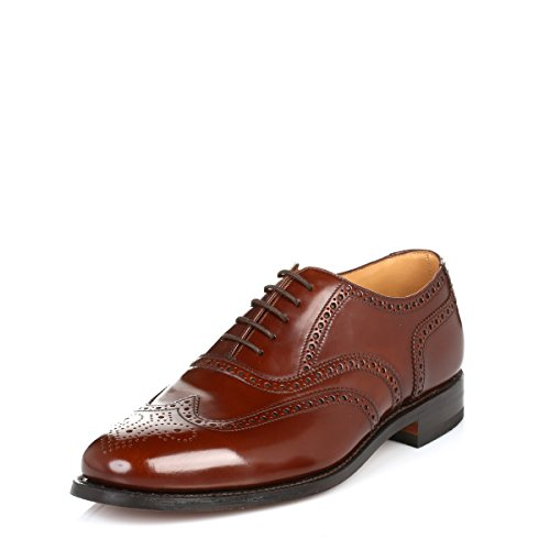 Loake Mens Brown 202T Brogue Leather Shoes-UK 11