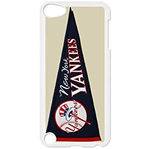 MLB IPod Touch 5 White New York Yankees cell phone cases&Gift Holiday&Christmas Gifts NADL7B8825768