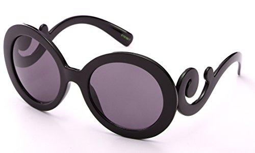 Newbee Fashion - Kyra Oversized Cateye Design Fashion Sunglasses for - Swirl Baroque Sunglasses