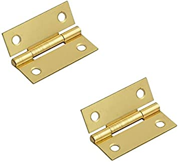 3 inch 100 PAIRS OF DOOR BUTT HINGES EB BRASS PLATED STEEL 75MM