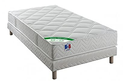 "Conjunto: látex colchones ""confort – grosor 19 cm + somier – 90 x"