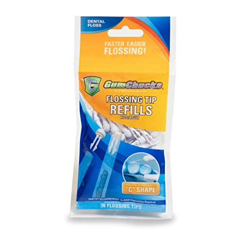 GumChucks | Faster, Easier Flossing! | Kids/Adult Disposable Flossing Tip Refills | 36 Count