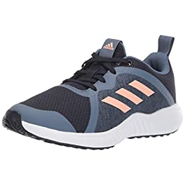 adidas Unisex-Kid's Fortarun X Running Shoe, Legend Ink/Glow Pink/tech Ink, 4 M US Big Kid