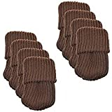 BCP 8pcs Knitting Wool Furniture Socks Table Chair Leg Floor Protector (Brown)