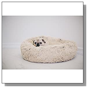 Best Friends by Sheri DNT-SHG-TAU-2323-VP Luxury Shag Fuax Fur Donut Cuddler (Multiple Sizes) ? Cat and Dog B23 x23, Taupe