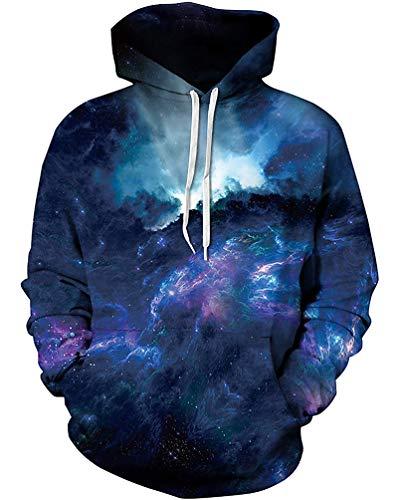 Unisex 3D Novelty Hoodies Easter Galaxy Hoodies Sweatshirt ()