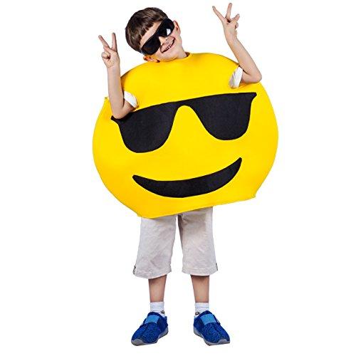 flatwhite Children Unisex Emoticon Costumes One Size (Sunglass)