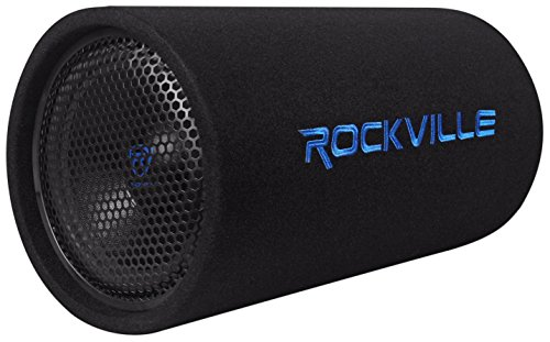 "Rockville 10"" 500w Powered Subwoofer Tube + Bass Remote, 10 inch RTB10A"