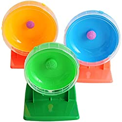 Tutuba Plastic Mouse Hamster Wheel Mouse Dwarf Exercise Toy Wheel Running Spinner Random Color