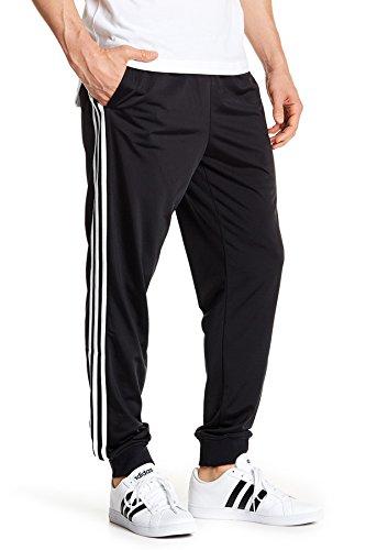 adidas Mens Essentials Tricot Jogger Pants, Black/White, X-Large