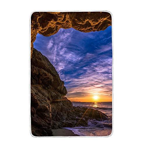 suhongliang Sunset Coast Sky Print Throw Blanket Comfort Des