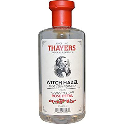 Thayers Alcohol-free Rose Petal Witch Hazel with Aloe Vera 12 oz