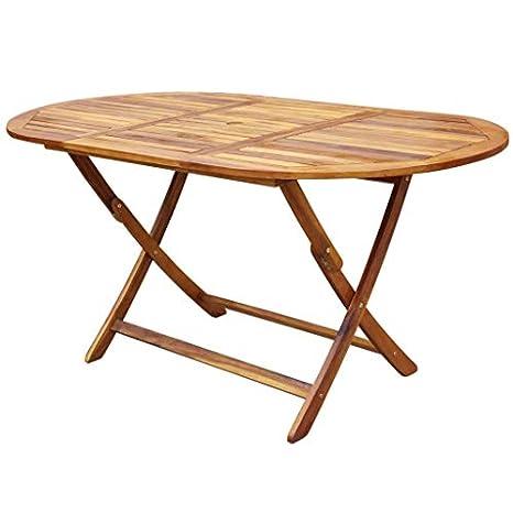 Amazon.com: Festnight - Juego de mesa plegable ovalada de 9 ...