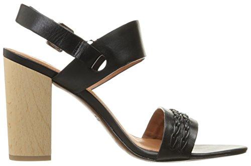 10 Crosby Womens Mandy Dress Sandal Black Vacchetta Lux yO3SLy13b