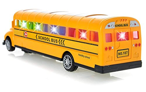 Toysery Playtime Bus School Bus Toy with Beautiful Attractive Flashing Lights and Sounds , Bump and Go Action